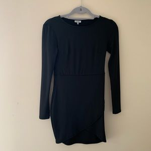 Body con black long sleeve dress